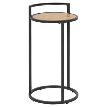 Loftowy stolik nocny Duffi - czarny