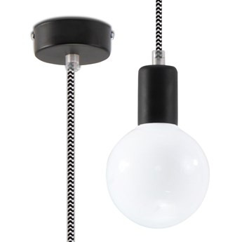 Industrialna lampa wisząca E825-Edisos - czarny/biały