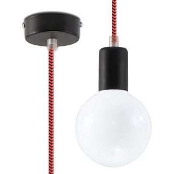 Lampa pojedynczy zwis E825-Edisos - czarny/czerwony