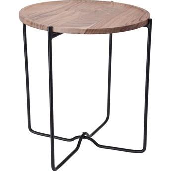 Loftowy stolik kawowy Sulli 42 cm - drewniany