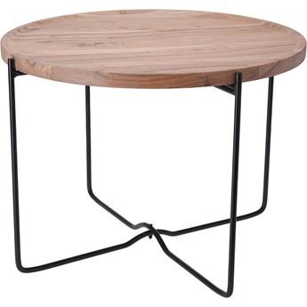Loftowy stolik kawowy Sulli 58 cm - drewniany