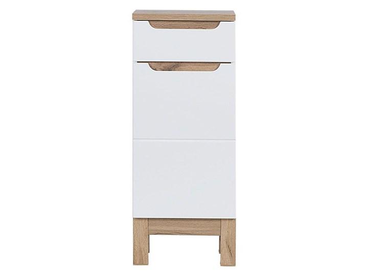 Półsłupek łazienkowy Marsylia 4X - Biały połysk Stojące Kolor Beżowy Szerokość 35 cm Wysokość 86 cm Kategoria Szafki stojące