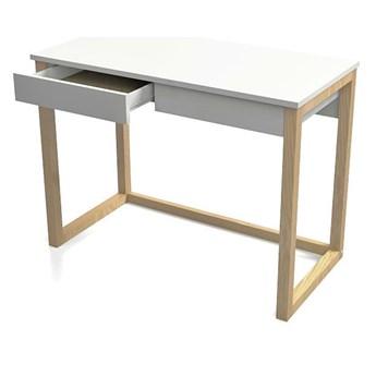 Drewniane biurko Inelo X11 120x60 cm - białe