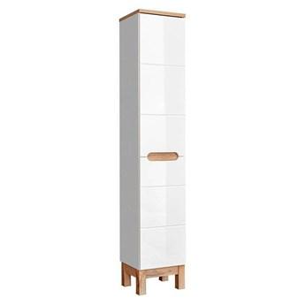 Słupek łazienkowy z koszem Marsylia 7X - Biały połysk