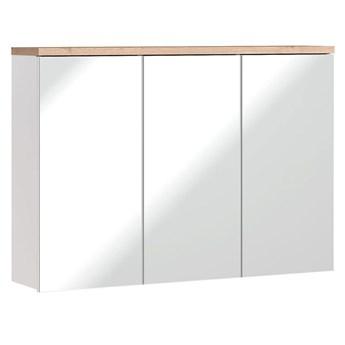 Podwieszana szafka łazienkowa z lustrem Marsylia 10X - Biały