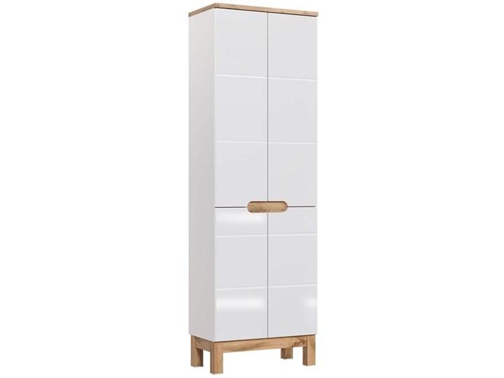 Szafka łazienkowa słupek Marsylia 11X - Biały połysk Szerokość 60 cm Wysokość 187 cm Kategoria Szafki stojące Szafki Stojące Kolor Beżowy