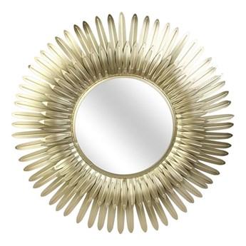 Złote okrągłe lustro w stylu glamour - Shaoli