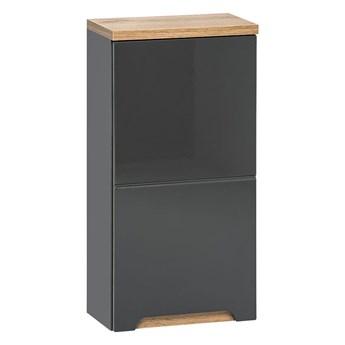 Podwieszana szafka łazienkowa - Marsylia 5X grafit połysk