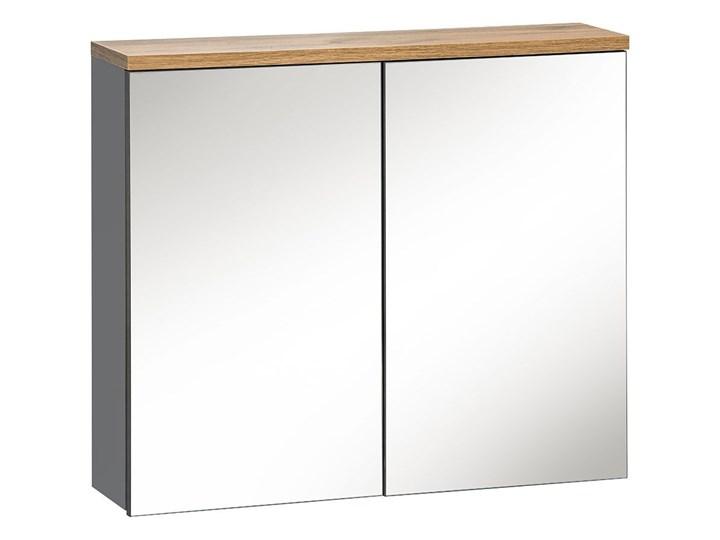 Szafka łazienkowa z lustrem - Marsylia 6X grafit 60 cm Wysokość 70 cm Szafki Wiszące Kolor Srebrny Kategoria Szafki stojące