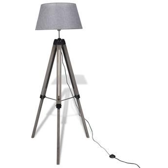 Szara drewniana lampa podłogowa loftowa - EX04-Etna