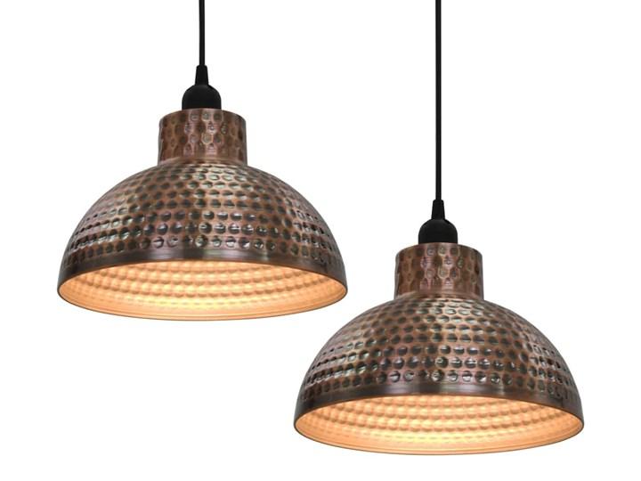 Komplet dwóch metalowych lamp wiszących - EX16-Tores Lampa z kloszem Kategoria Lampy wiszące