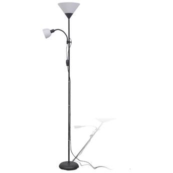 Czarna podwójna lampa stojąca do salonu - EX06-Tevila