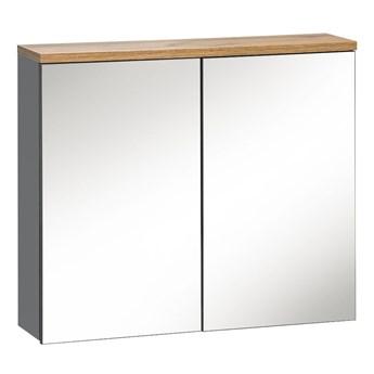 Szafka łazienkowa z lustrem - Marsylia 6X grafit 80 cm