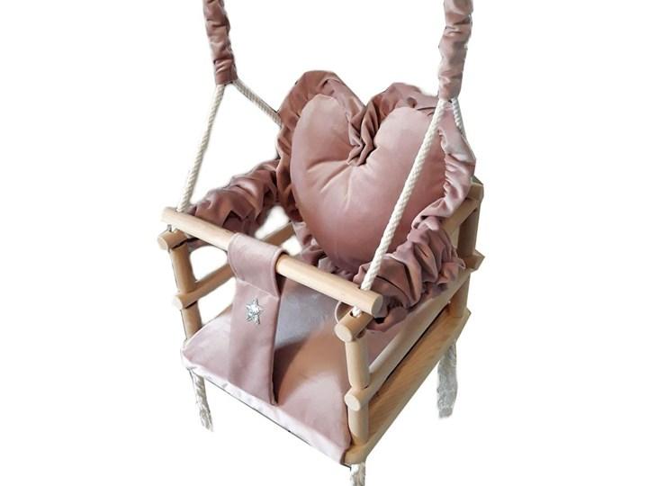 Różowa huśtawka serce dla dziewczynki - Aurelia 3w1