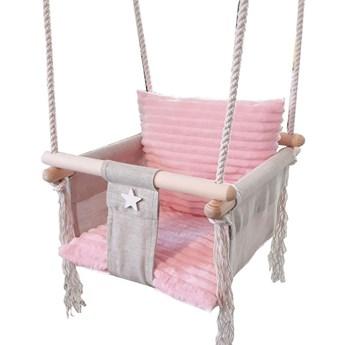 Różowa huśtawka dla dziewczynki - Rufi