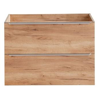 Podwieszana szafka łazienkowa pod umywalkę - Malta 3X Dąb 80 cm
