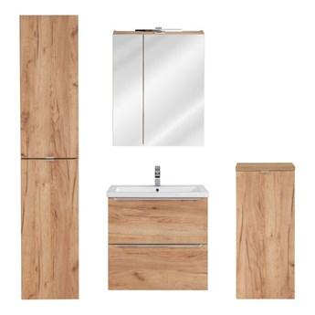 Zestaw podwieszanych szafek łazienkowych - Malta 2Q Dąb 60 cm