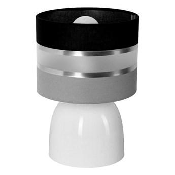 Biała nowoczesna lampka nocna na szafkę - EX67-Hadel
