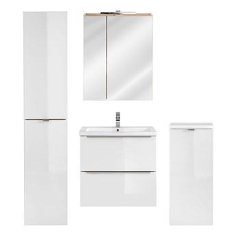 Zestaw podwieszanych szafek łazienkowych - Malta 2Q Biały połysk 60 cm
