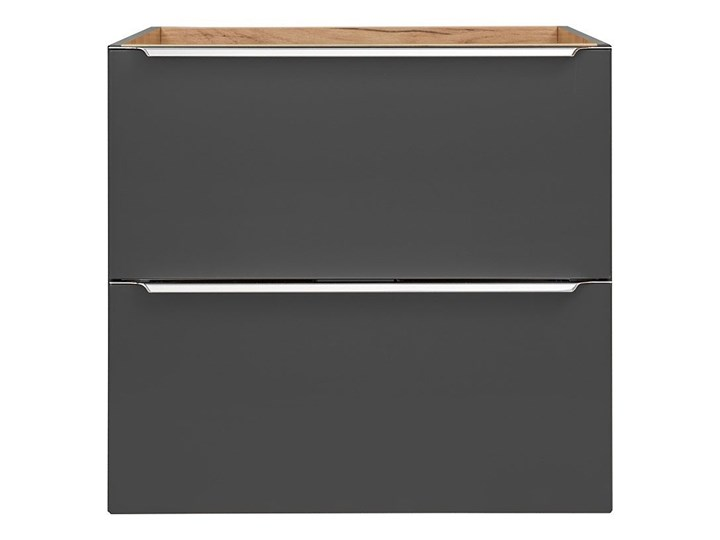 Podwieszana szafka łazienkowa pod umywalkę - Malta 3X Czarny mat 60 cm