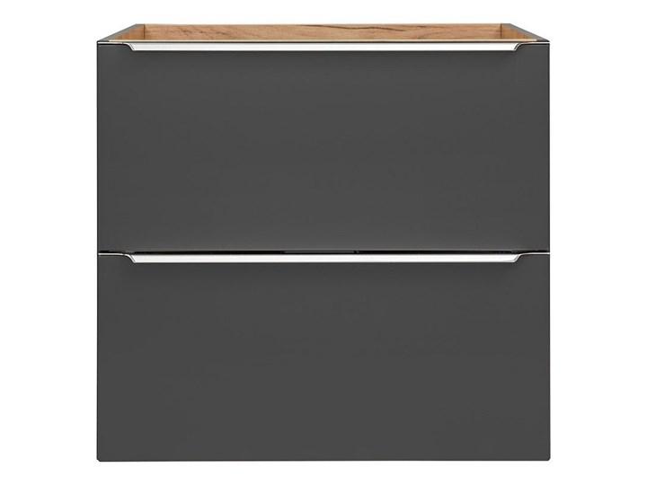 Podwieszana szafka łazienkowa pod umywalkę - Malta 3X Czarny mat 60 cm Wiszące Szafki Wysokość 57 cm Kategoria Szafki stojące