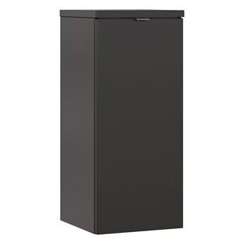 Półsłupek łazienkowy z koszem na pranie - Malta 4X Czarny mat