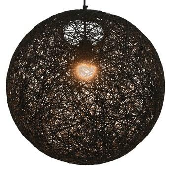 Czarna okrągła lampa wisząca w stylu boho - EX107-Goten