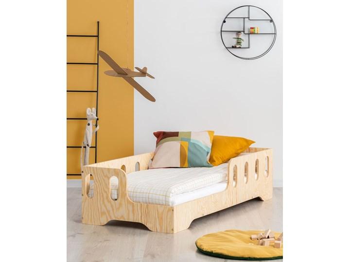 Lewostronne łóżko drewniane dziecięce 16 rozmiarów - Filo 2X Płyta MDF Drewno Rozmiar materaca 80x140 cm