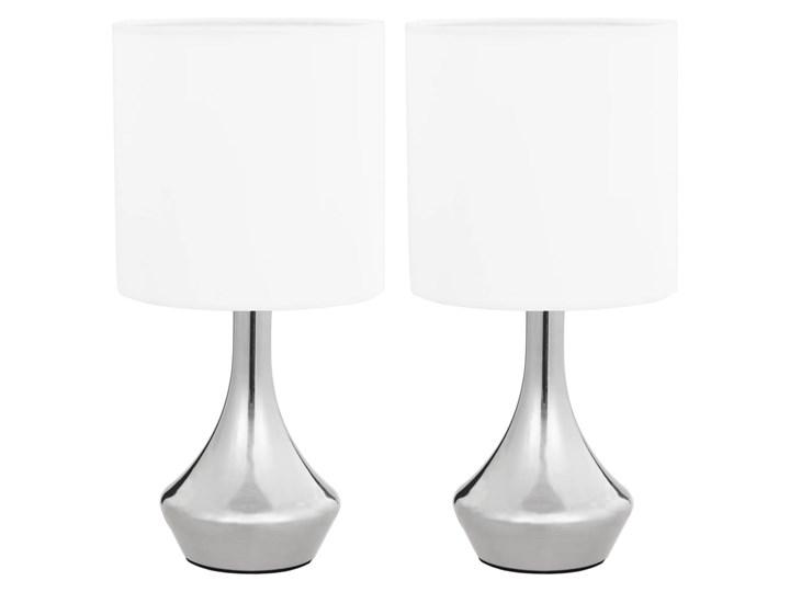 Dotykowa lampka nocna do sypialni 2 sztuki - EX145-Volma Wysokość 32 cm Kolor Biały Lampa nocna Styl Nowoczesny