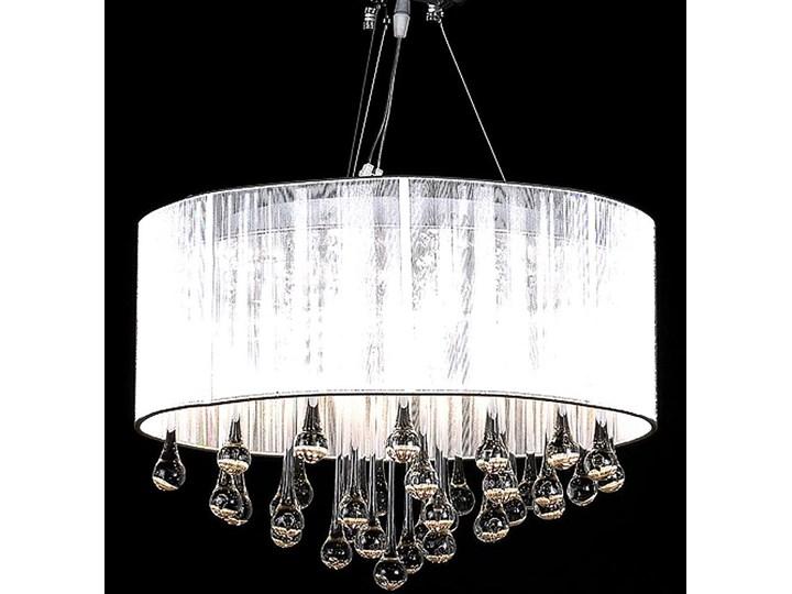 Biały okrągły żyrandol z kryształami - EX152-Flezi Lampa z kryształkami Kategoria Lampy wiszące