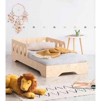 Drewniane pojedyncze łóżko dziecięce 16 rozmiarów - Filo 5X