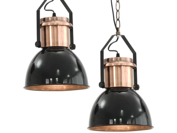 Czarna lampa wisząca w stylu loftowym 2 sztuki - EX156-Nilos Kategoria Lampy wiszące Metal Lampa z kloszem Kolor Czarny