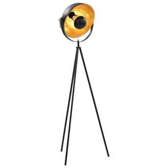 Czarno złota lampa stojąca z obrotowym kloszem - EX185-Vonis