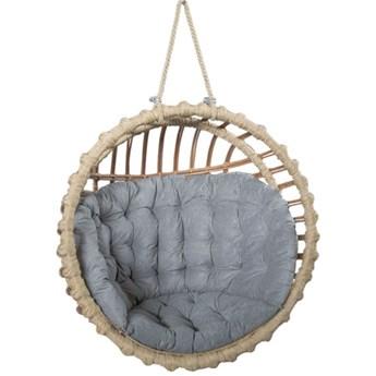 Okrągły fotel jajo z wikliny do ogrodu - Petro