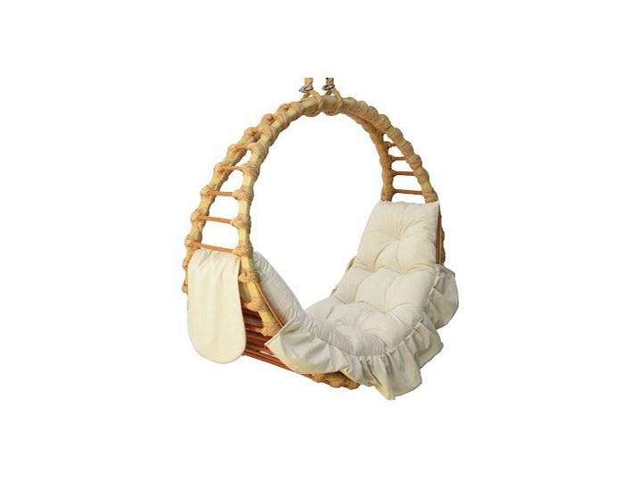 Kosz wiszący wiklinowy pierścień - Flo Kolor Biały