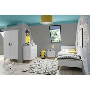Biały zestaw mebli do pokoju dziecięcego - Maurycy