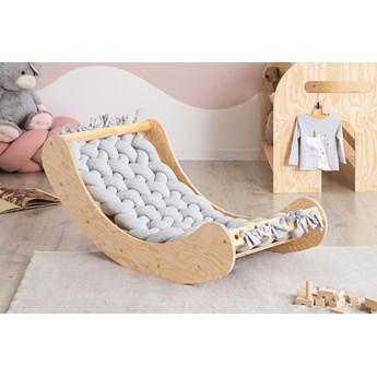 Jasnoszara drewniana kołyska dziecięca - Tulis