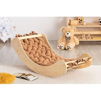Karmelowa drewniana kołyska dziecięca - Tulis