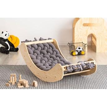 Popielata drewniana kołyska dziecięca - Tulis