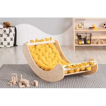 Żółta drewniana kołyska dziecięca - Tulis