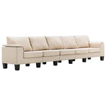 Pięcioosobowa ekskluzywna kremowa sofa - Ekilore 5Q