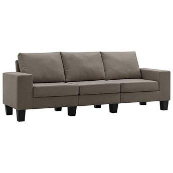 Ponadczasowa trzyosobowa sofa taupe - Lurra 3Q