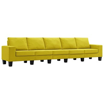 Ponadczasowa 5-osobowa żółta sofa - Lurra 5Q
