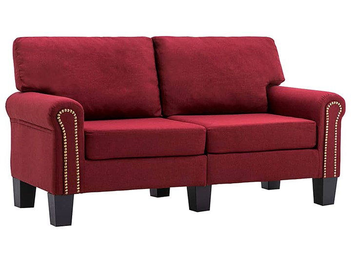Luksusowa trzyosobowa sofa czerwone wino - Alaia 2X Szerokość 145 cm Głębokość 70 cm Kolor Czerwony