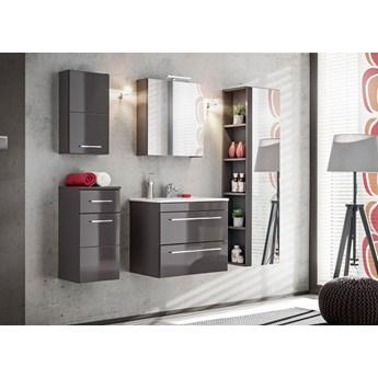 Komplet szafek łazienkowych  - Malaga 2Q Grafit połysk