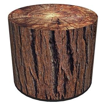 Okrągła pufa z motywem drewna 17 wzorów - Adelos 2X
