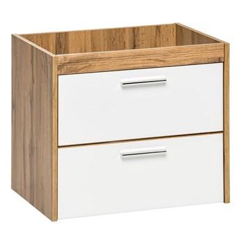 Wisząca szafka łazienkowa pod umywalkę - Madryt 3X Biały