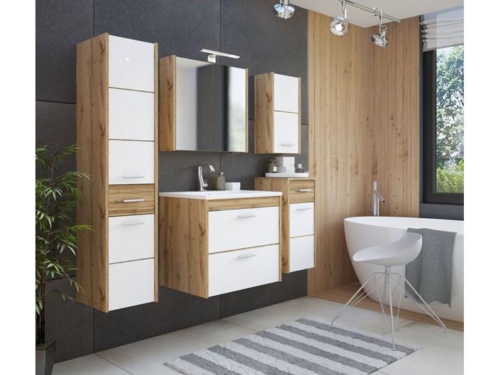 Komplet wiszących szafek łazienkowych - Madryt 2Q Biały