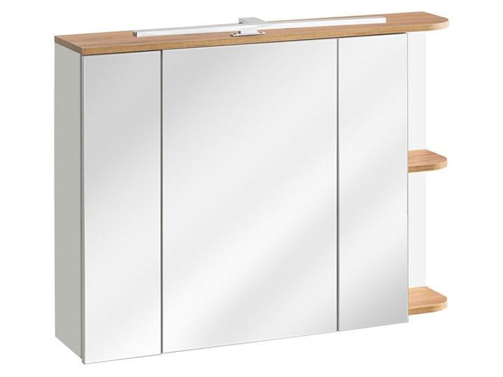 Wisząca szafka łazienkowa z lustrzanym frontem - Sewilla 4X Kolor Beżowy Głębokość 20 cm Szerokość 94 cm Szafki Wysokość 72 cm Wiszące Kategoria Szafki stojące