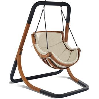 Beżowy fotel wiszący do ogrodu - Pasos 2X